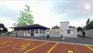 Artist's impression of new Blairhill station building