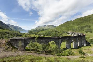 <p>The sweeping curve of the Glenfinnan Viaduct on the West Highland Line</p>