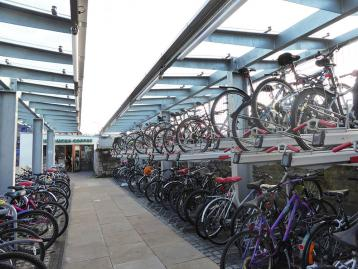 Cycle storage racks at Haymarket