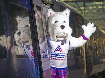 <p>Scottee, the official mascot of the championships</p>