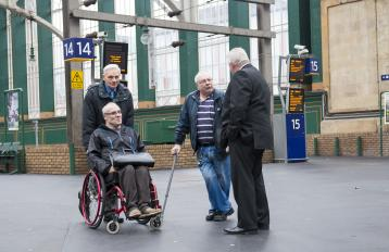 Customers with limited mobility at Glasgow Central