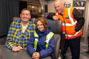 Doddie Weir and Waverley station staff