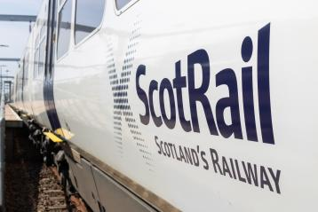 ScotRail logo - blue on white - class 365