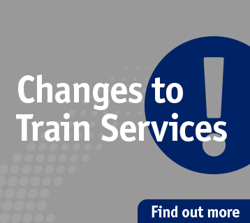 Changes to Train Services - main menu ad