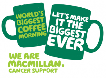 <p>World's Biggest Coffee Morning, lets make it the biggest ever. </p>