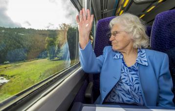 <p>Madge Elliot MBE was one of the first passengers on the new Borders Railway line.</p>