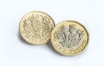 Old and new one pound coin