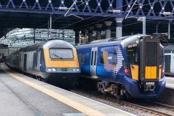 ScotRail Trains at Station
