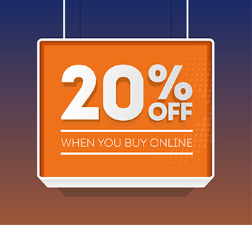 20% off when you buy online