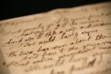 Robert Burns manuscript