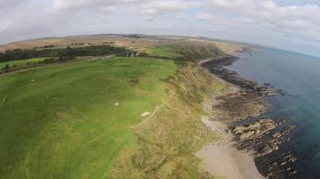 Stonehaven Golf Club from the air
