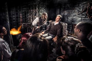 Visitors face-to-face with sinister characters at the Edinburgh Dungeon