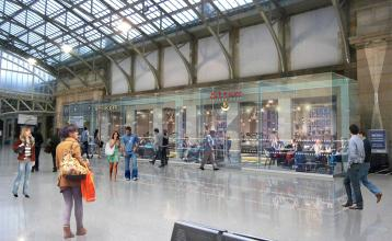 Artists impression of how Aberdeen station concourse will look after revelopment