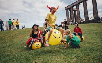 Calton Hill during the Fringe (credit David Monteith-Hodge)