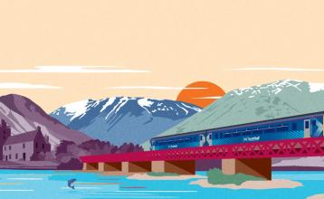 Great Scenic Railway Journeys illustration
