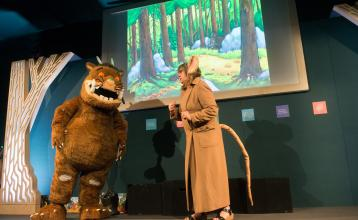 Edinburgh International Book Festival with the Gruffalo