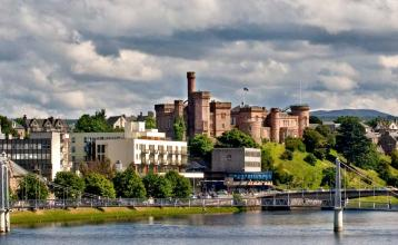 Image: Inverness Castle and the River Ness. Credit: Inverness Marketing group.